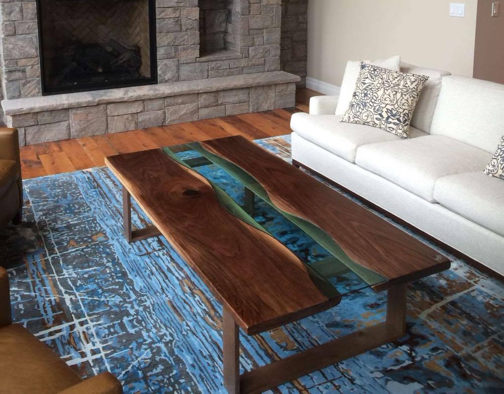 Live Edge Forest River Table