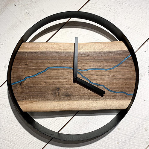"15"" Walnut River Clock"