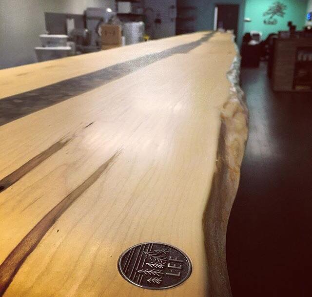 Live Edge Forest countertop