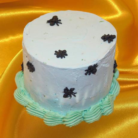 "4"" coconut cake passion fruit mousse lime buttercream"