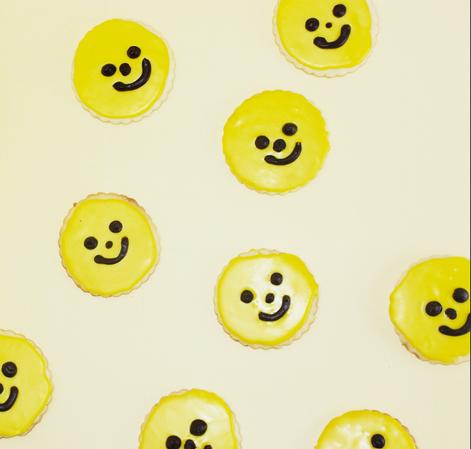 vanilla smiley sugar cookies