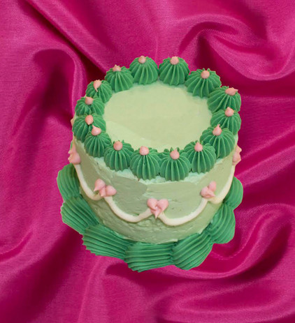 """4"""" lime cake lime curd basil jelly white chocolate buttercream"""