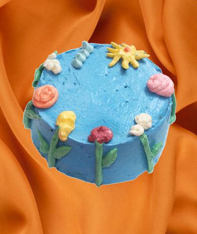 "6"" chocolate cake matcha zéphyr ganache sesame praline vanilla meringue buttercream"