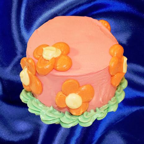 "4"" vanilla chiffon cake coconut pastry cream clementine jam crème fraîche buttercream"