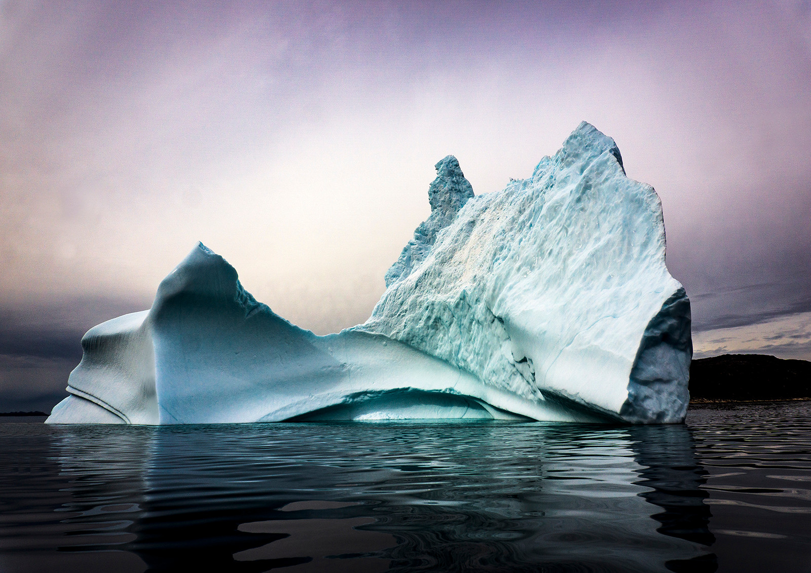 COLOUR - Qassiarsuk Iceberg by Helen Honeyman (10.5 marks)