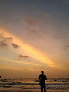 Candolim 2019 .Setting sun and beach fun