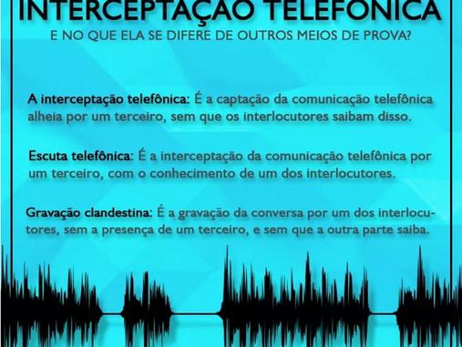 Quando a Interceptação Telefônica pode ser utilizada?