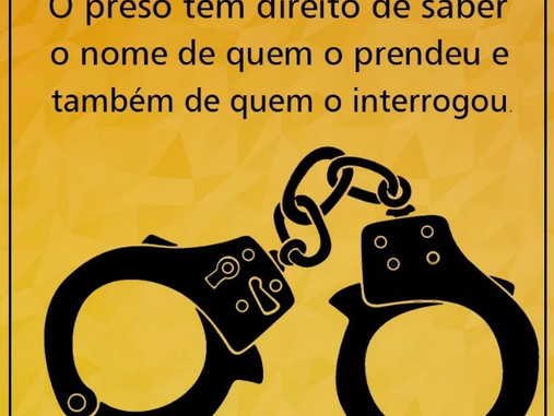 Quais os direitos do preso?