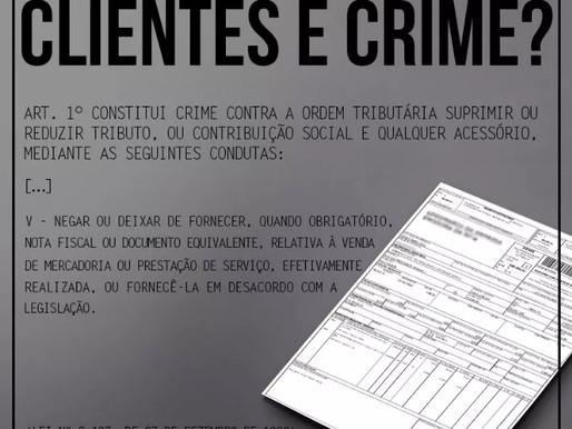 Não fornecer nota fiscal aos clientes é crime?