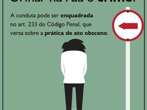 Urinar na rua pode ser considerado crime?
