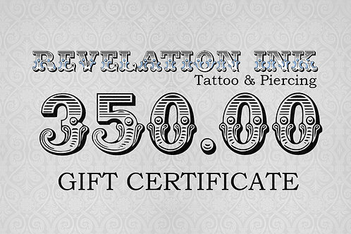 350.00 Gift Certificate