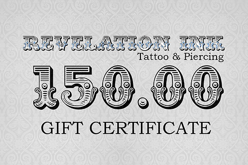 150.00 Gift Certificate
