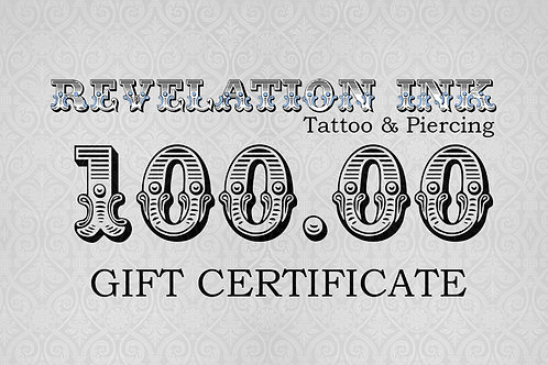 100.00 Gift Certifcate
