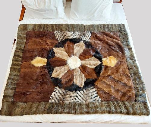 "ZP Premium Deerskin Leather Blanket (Brown - 37"" W x 57"" L)"