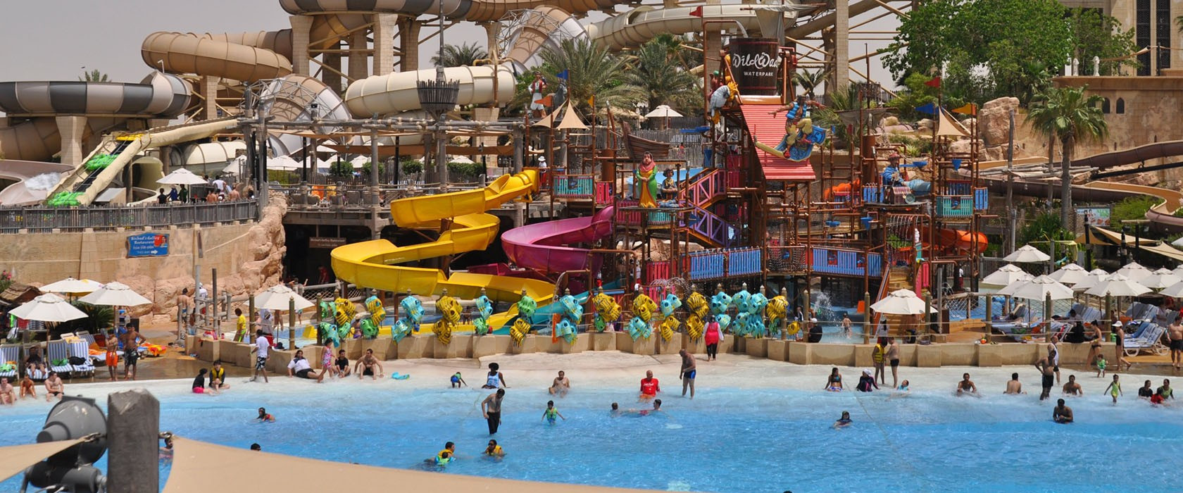 WILD WADI WATERPARK DUBAI Outdoor water park with rides & slides