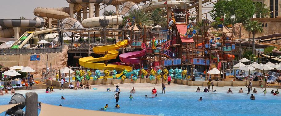 WILD WADI WATERPARK DUBAI Outdoor water park with rides & slides