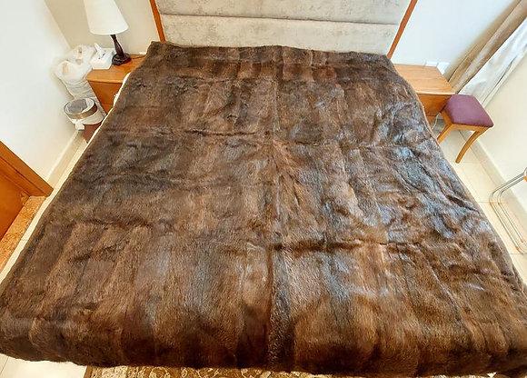 "ZP Premium Deerskin Leather Bedspread (Brown - 69"" W x 87"" L)"
