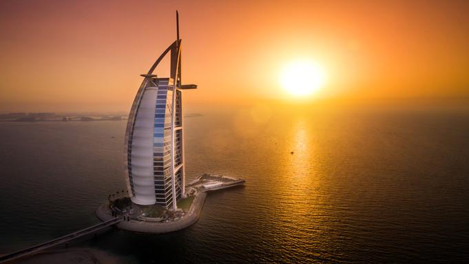 BURJ AL ARAB Luxury hotel with posh dining & beach