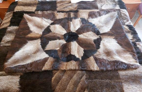 "ZP Premium Deerskin Leather Blanket (Light Brown - 37"" W x 57"" L)"