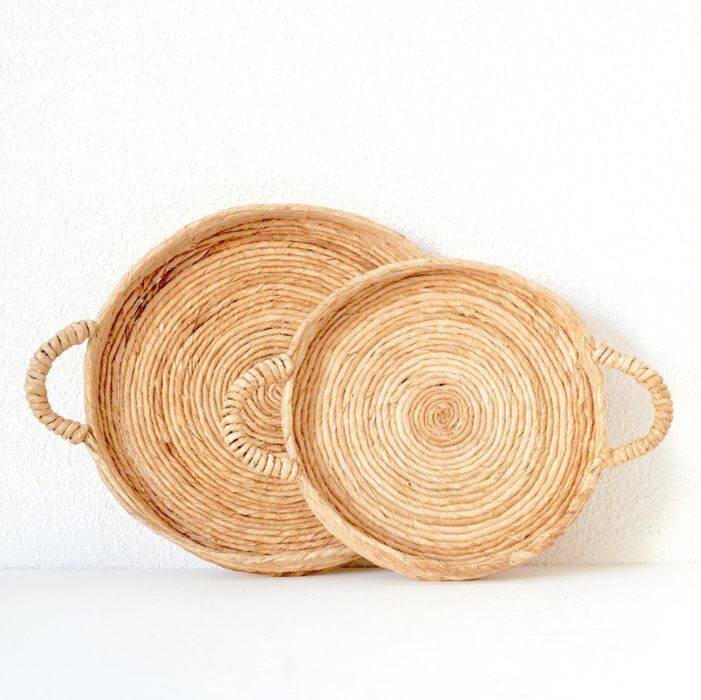 Abaca Tray With Handle(Credit- Tribe Sop