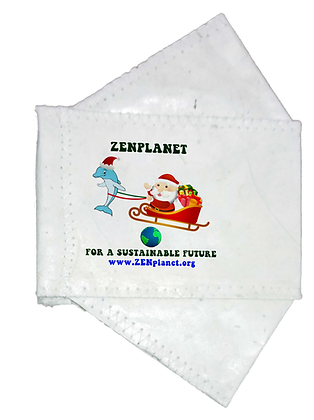 Seasonal Collection-ZENplanet 2-PLY Donnie & Santa ABACA Face Mask ©