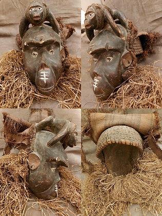 Early 20th Century Tribal Helmet Mask