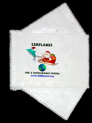 Seasonal Collection-ZENplanet 2-PLY Daphne & Santa ABACA Face Mask ©