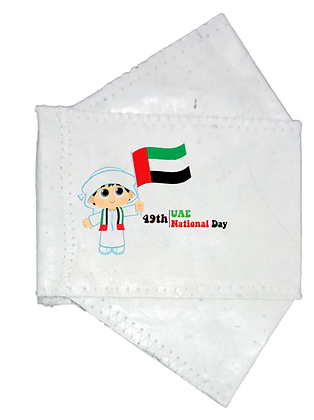 Seasonal Collection-ZENplanet 2-PLY UAE National Day ABACA Face Mask ©