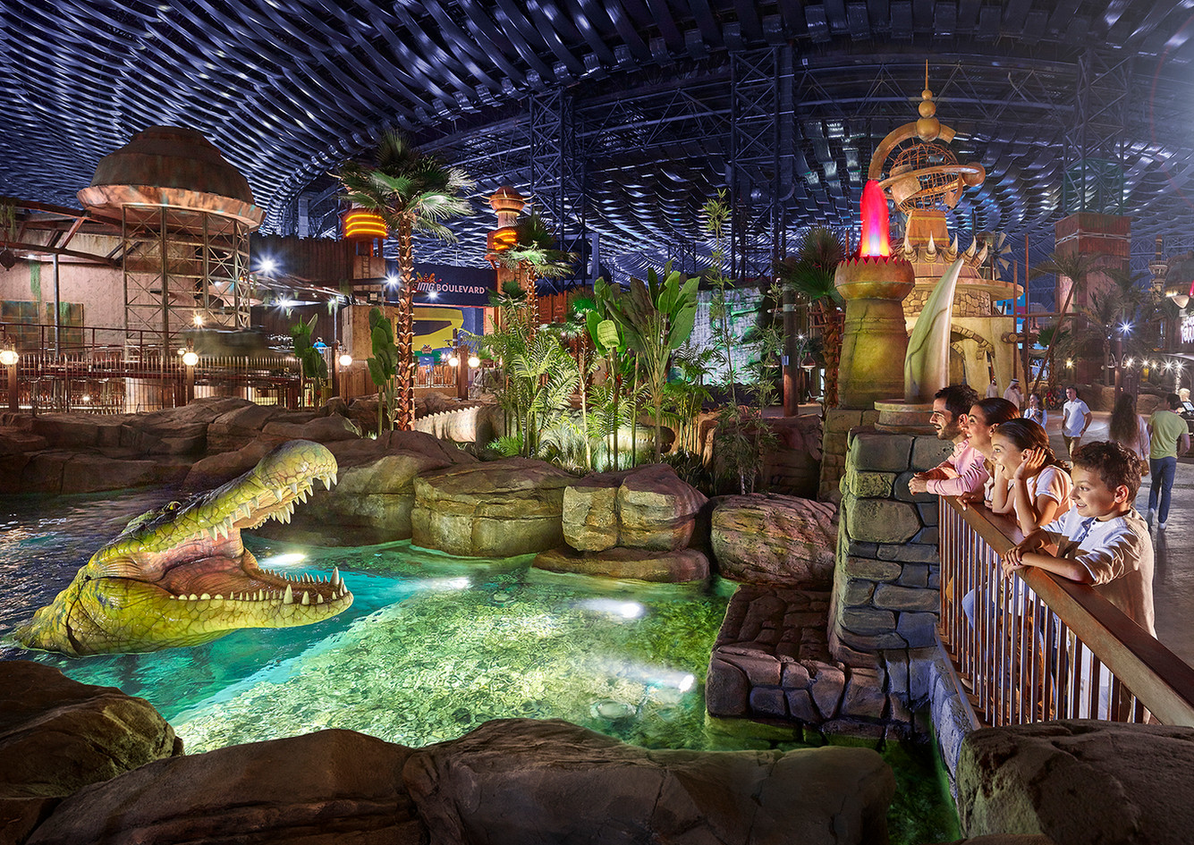 IMG WORLDS OF ADVENTURE Sprawling indoor theme park with rides