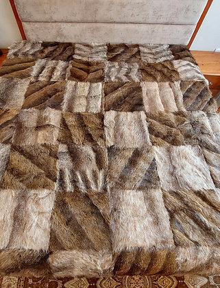 "ZP Premium Deerskin Leather Bedspread (75"" W x 85"" L)"