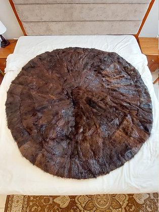 "ZP Premium Deerskin Leather Rug (Dark Brown - 59"" W x 59"" H)"