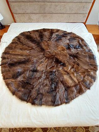 """ZP Premium Deerskin Leather Rug (Brown - 59"""" W x 59"""" H)"""