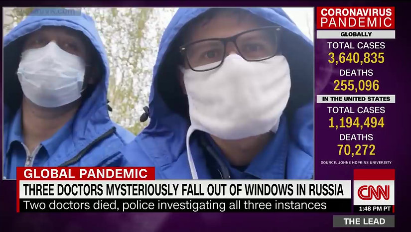 Three doctors mysteriously fall out of Russian hospital windows
