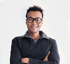 Smiling Man with Glasses