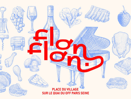FlonFlon, a typical French village square pops up near the Seine!