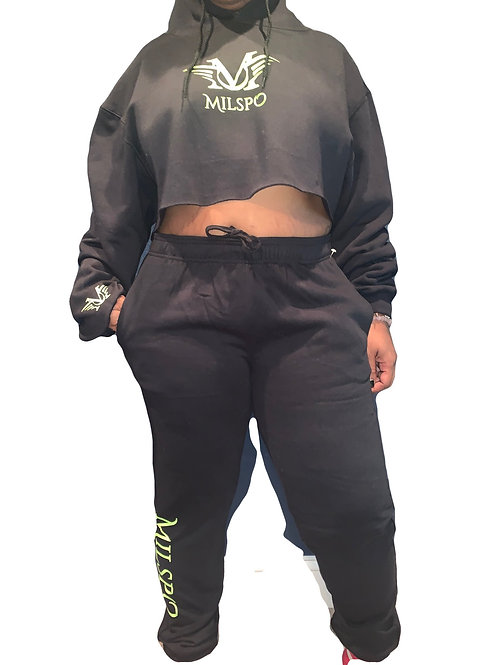 CROP TOP SWEAT set