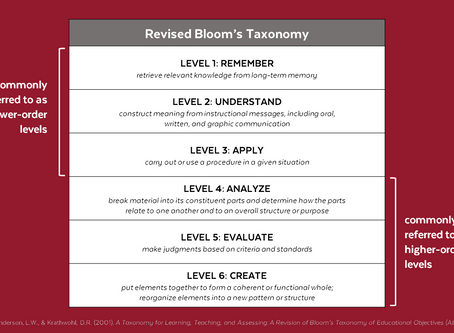 How Do You Know When Your Project-Based Lesson is Really Higher Order?