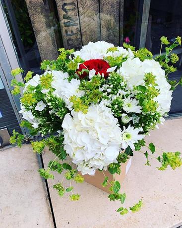 Un hommage _#fleurs #flowers #blanc #ros