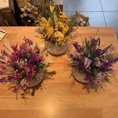 Composition de fleurs séchées pour une c
