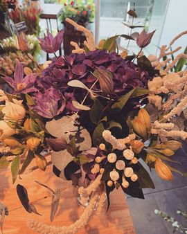 Hortensia et Clématite 💕 _#bouquetdujou