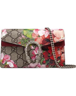 d34af3137128 Gucci GG Monogram Blooms Print Mini Dionysus Shoulder Bag Antique Rose