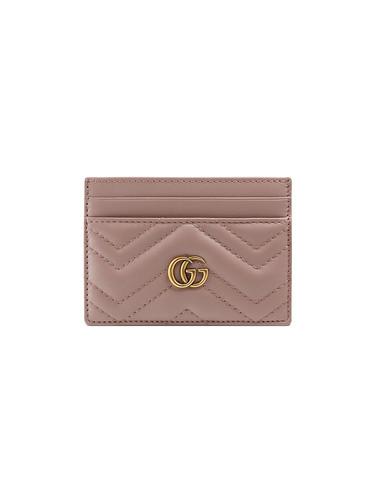 17de5cb0597a GUCCI GG Marmont Dusty Pink Card Case