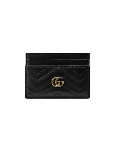 4be03fed5a05 GUCCI GG Marmont Black Card Case
