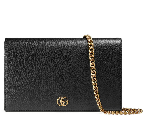 aec52b13a77b GUCCI Petite Marmont Wallet On Chain With Mirror