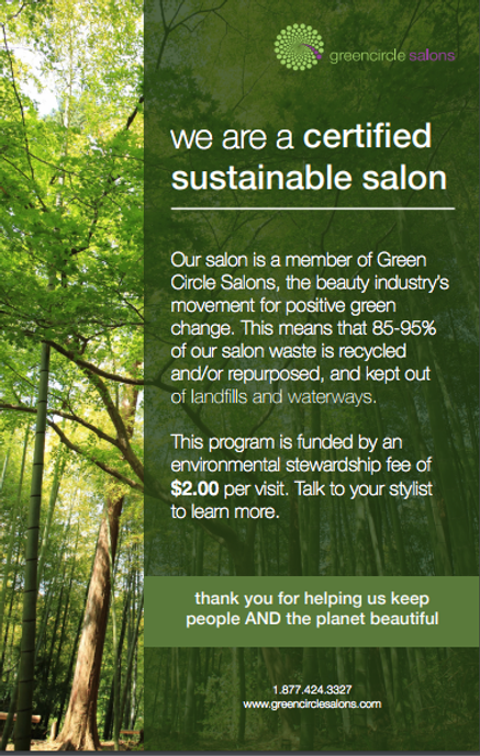 greencircle salon, sustainable salon, recycle, reuse