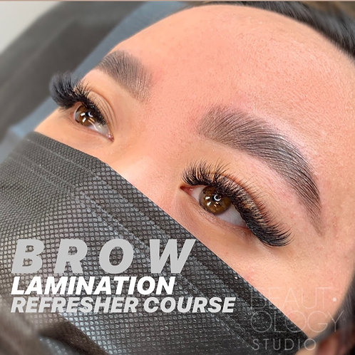 Refresher 1:1                                             Brow Lamination Course