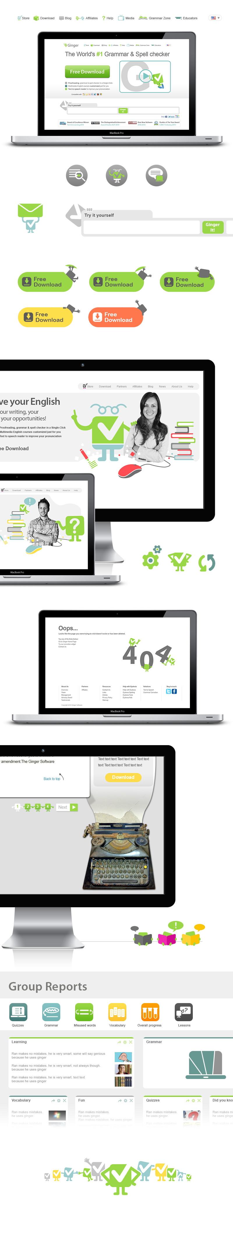 Ginger Software web design