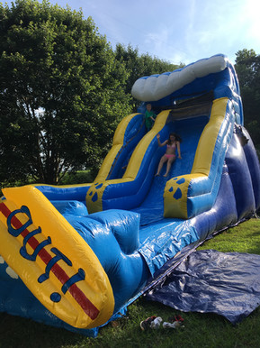 17ft Wipe Out Inflatable Slide