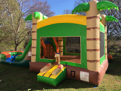 Tiki Hut Bounce House Combo