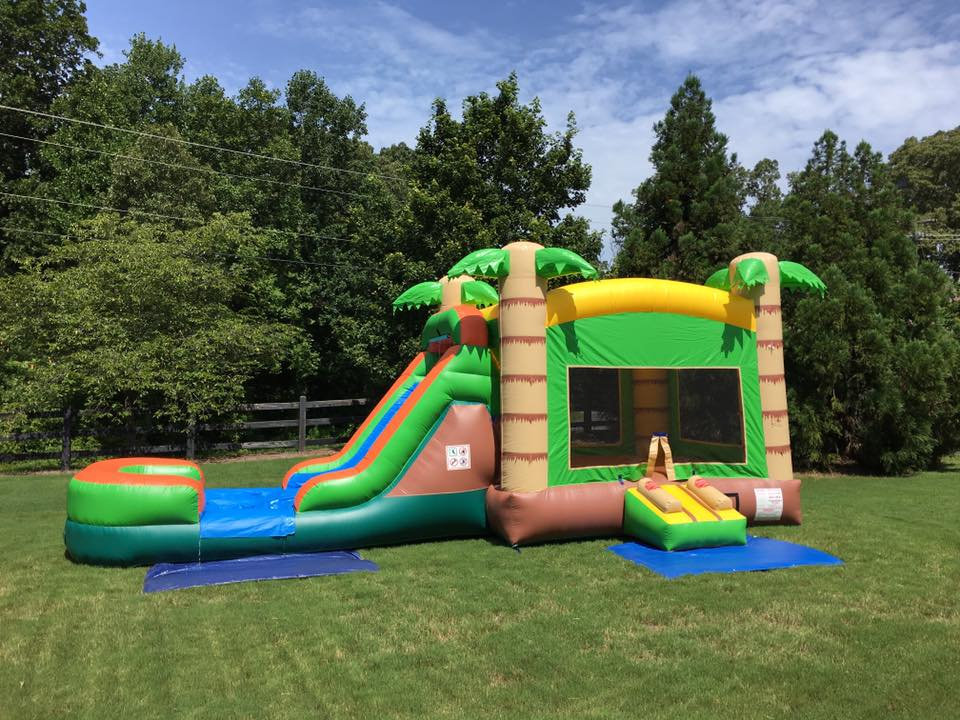 Tiki Hut Combo Bounce House